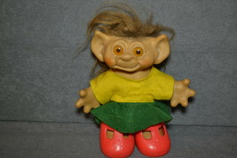 "Uneeda Wishnik Troll Doll 8"" - $14.00"