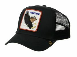 Goorin Bros Snapback Mesh Cap Black Freedom Eagle Patriotic Trucker Hat 101-0209 image 2