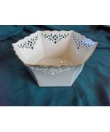 Vntge Lenox China Shelburne Pierced Hexagon Bowl,Mint - $24.75