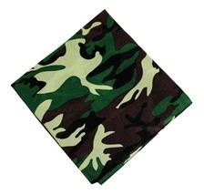 NEW MEN'S 12 PACK COTTON ARMY CAMOUFLAGE HEAD WRAP SCARF WRISTBAND BANDANA GREEN
