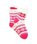 Urban-Peacock Plush Knitted Fleece Sherpa Lined Slipper Socks-Fair Isle-... - $10.95