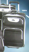 "DELSEY AIR TUXEDO EXPANDABLE LUGGAGE SET/2 WHEELED 21""CARRY-ON & TOTE BL... - $149.90"