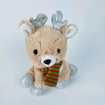 Animal adventure sparkle baby plush reindeer with scarf Christmas  - $4.95
