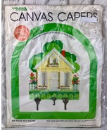 Vintage Canvas Capers My House Key Holder Leisure Arts Collectible - $9.14