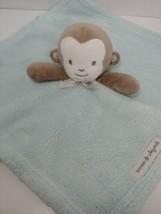 Blankets & Beyond green security blanket brown cream monkey baby lovey - $12.86