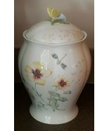 Lenox Butterfly Meadow Porcelain Canister Butterfly Handle ~ Louise Le L... - $68.40