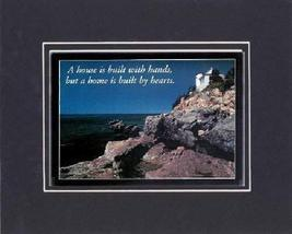 Touching and Heartfelt Poem for Motivations - [A house is built with han... - $10.84