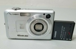 Casio EXILIM ZOOM EX-Z750 7.2MP Digital Camera - Silver *Fine/tested* FR... - $15.83