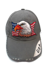 Patriotic Eagle Baseball Cap Hat American Flag USA Embroidered Adjustable - $6.90