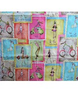 2 Yds Debbie Taylor Kerman Cotton Quilt Fabric Ladies on the Go Shopping... - $11.00