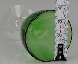 "4 Cambridge AURORA GREEN Water Goblets Near MINT Excellent 6-1/4"" image 3"