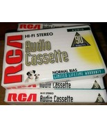 Lot of 9- RCA 90 Minute Blank Recordable Audio Cassette Tapes  Sealed - $22.99