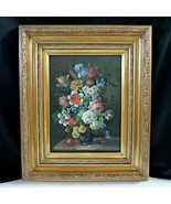 Vintage Flower Floral Still Life Oil on Board Oil Painting by Brad 20x24... - $890.99