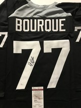Autographed/Signed Ray Bourque Boston Black/Grey Hockey Jersey Jsa Coa Auto - $149.99