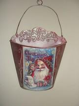 CHRISTMAS SANTA METAL TIN WALL HANGING DECORATION - $5.71