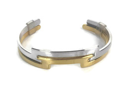 Vintage Retro 1977 Avon Silvertone Goldtone Counterparts Cuff Bracelet S... - $18.66