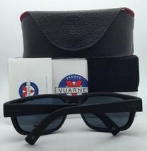 New VUARNET Sunglasses VL 1621 0003 Black Frame w/Pure Grey Lenses+Blue Flashed