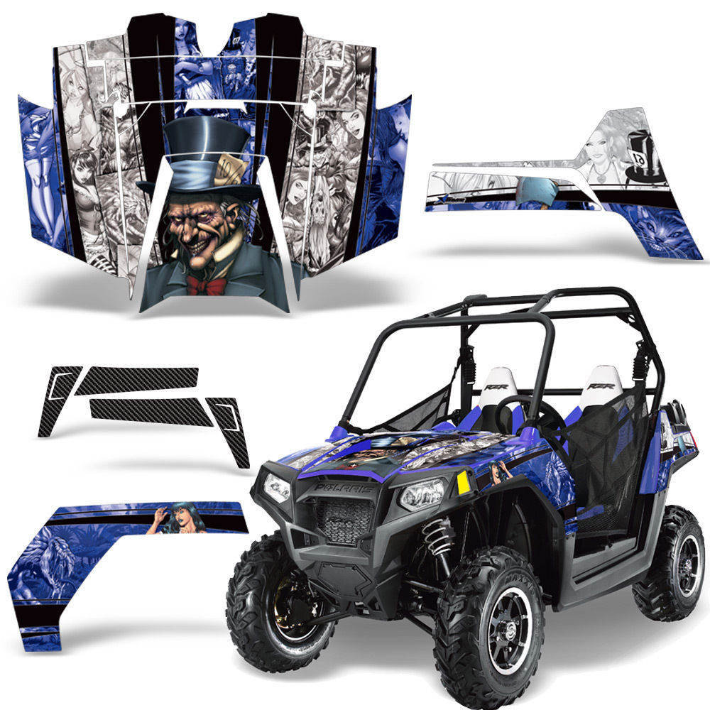 UTV Graphics Kit SxS Decal Sticker Wrap For Polaris RZR 800 2011-2014 HATTER W U