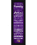 "Western Illinois ""Leatherneck""- 24 x 8 Family Cheer Framed Print - $39.95"