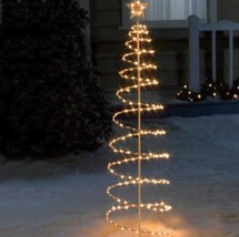 Outdoor Lighted 6 Foot Spiral Christmas Tree Sculpture Yard Decoration 4... - $59.95