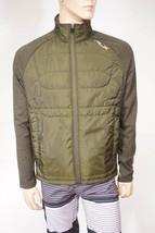 RLX Ralph Lauren Men's Wool Green Grey Full Zip Quilted Fleece Jacket $225 - $79.99