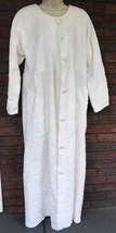 Land's End Chenille Robe Small White Vintage Terrycloth Button Housecoat... - ₨3,521.82 INR