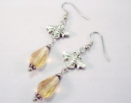 Bee Honey Drop Charm Earrings - $12.50