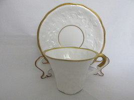 "Vintage Royal Stafford Bone China Demitasse Cup & Saucer ""Old English Oa... - $15.99"