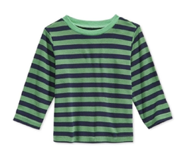First Impressions Baby Boys Striped Thermal T-Shirt, Paradise Green, Size 18M - $8.90