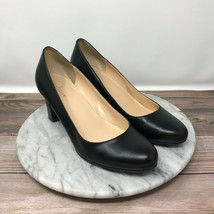 Cole Haan Edie Low Black Pebbled Leather Round Toe Classic Pumps Womens Size 8 - $44.95