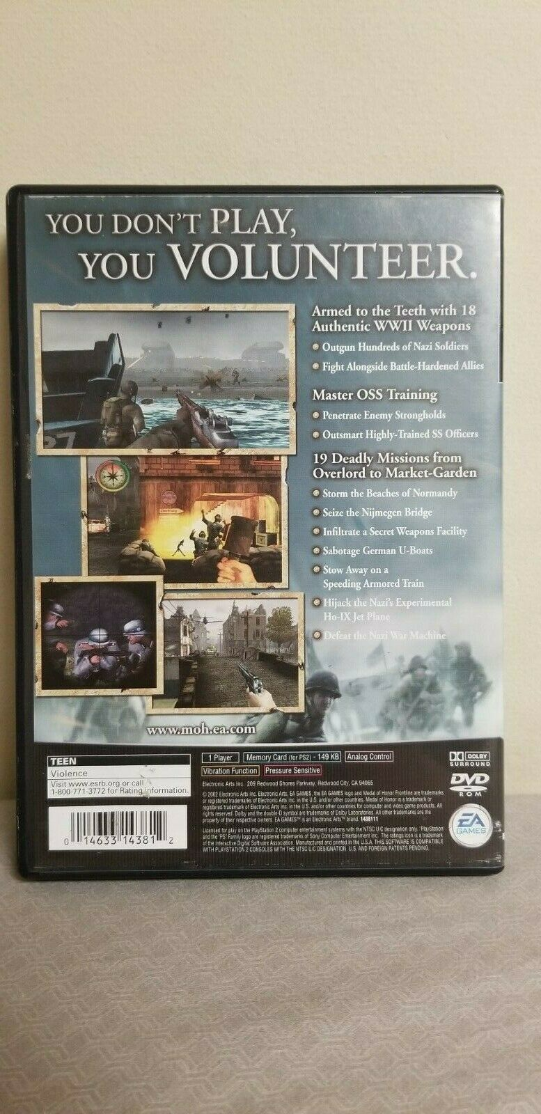 Medal of Honor: Frontline (Sony PlayStation PS2, 2002) Video Game image 2