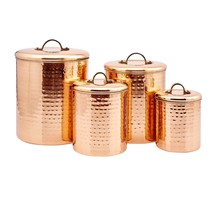Kitchen Canister Sets Coffee Sugar Countertop Storage Jar 4 Piece Containers NEW