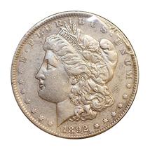 1892 P Morgan Silver Dollar - AU / Almost Uncirculated - $77.45