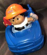 Fisher Price Little People Tow Truck Driver Mechanic Blue Car Set Lot Ra... - $20.42