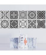 Funlife Black And White Retro European Bathroom Tile Plaster Anti-Oil Pl... - $32.99