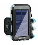 Solar Charger 20000mAh Portable Outdoor Waterproof Solar Power Bank Camping - $54.61