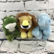 Ganz Webkinz Lil' Kinz Lot Of 3 Plush Shaggy Frog Lion Hippo Stuffed Toys - $16.82