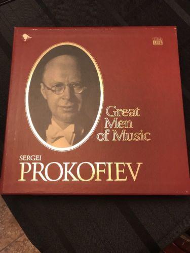 Sergei Prokofiev GREAT MEN of MUSIC 4-LP SET Literature HARD Case FREE SHIPPING