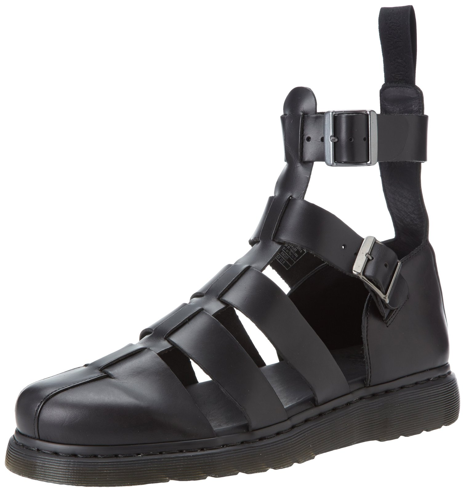 Dr. Martens Men's Geraldo Fisherman Sandal, black, 7 UK/8 M US