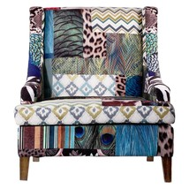 A&B Home 39295 Contemporary Vesta Bird Collage Fabric Upholstery Accent ... - $1,377.50
