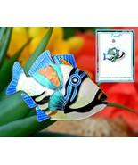 Zarah Tropical Fish Sea Triggerfish Brooch Pin Enamel Sterling Silver - $27.95