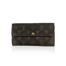 Authentic Louis Vuitton Monogram Long Sarah Clutch Continental Wallet - $321.75