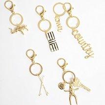 Shiny Brass Hairdresser Bobby Pins Keychain