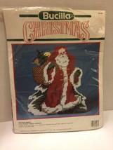 Bucilla Kit Plastic Canvas Antique Santa Doorstop  61137 New Rare 1990 - $51.41