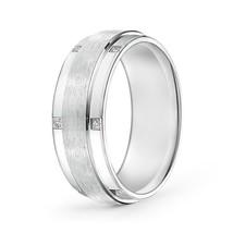 8MM Satin Finish Pave Set Diamond Mens Band 14k Gold Ring Size 4-14 - $1,189.82+