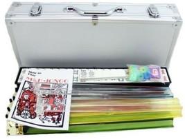 Complete American Mahjong Set in Aluminum Case 166 Tiles 4 Pushers 4 Pla... - $153.24