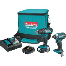 Makita 18-Volt LXT Lithium-Ion Cordless Driver Drill and Impact Driver C... - $175.42