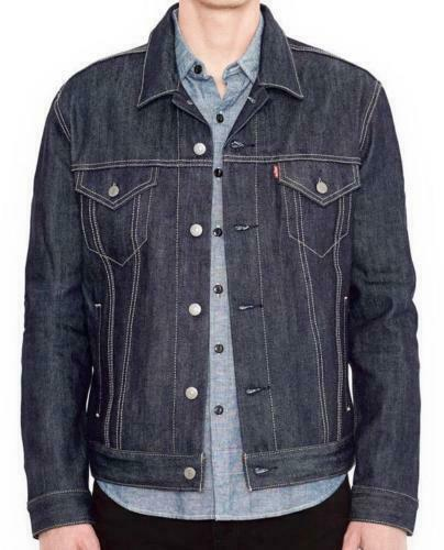 Levi's Men's Premium Button Up Denim Jeans Jacket Relaxed Rigid 723350005