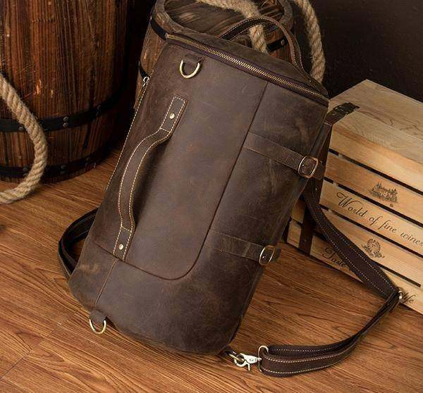 Sale, Vintage Leather Travel Backpack, Shoulder Bag, Designer Backpack image 2
