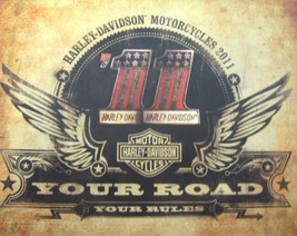 2011 Harley Davidson Brochure, Street Sportster Dyna Softail V-Rod Electra Glide - $12.60